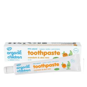 Organic Children Toothpaste mandarin aloe vera with fluoride