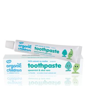 organic childrens toothpaste fluoride free spearmint and aloe vera