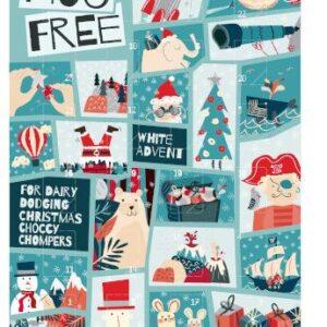 moo free white chocolate advent calendar